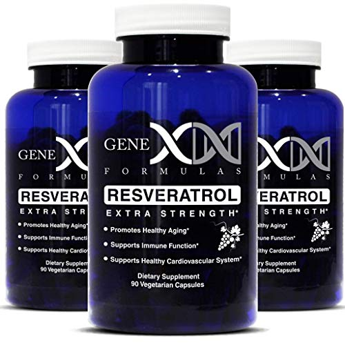 Genex Resveratrol 1500mg 3 Pack -Max Strength – Antioxidant Supplement Extract | Trans-Resveratrol for Heart Health and Trans Resveratrol for Anti Aging Providing Maximim Benefits 90-Day Supply