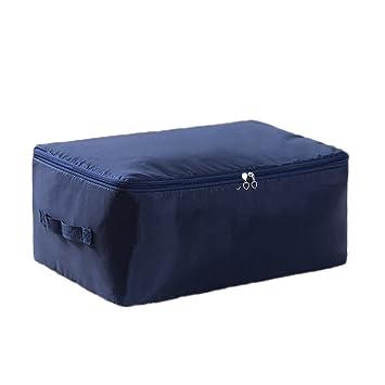 Kentop Housse De Rangement Couette Portable Tissu Oxford Bleu Foncé