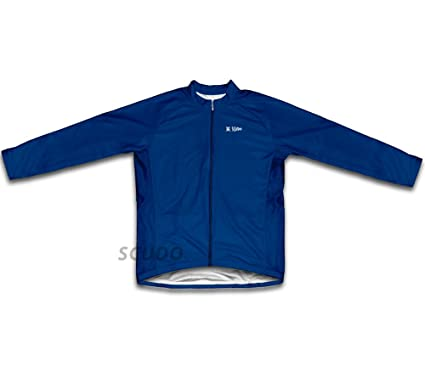 387ff902f Amazon.com  ScudoPro Dark Blue Winter Thermal Cycling Jersey for ...