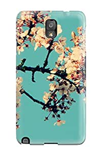 Tpu Case Cover For Galaxy Note 3 Strong Protect Case - Flower Design