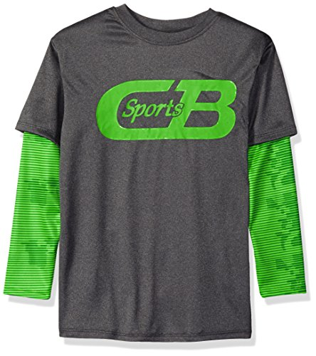 CB Sports Boys Athletic Long Sleeve Hangdown T-Shirt