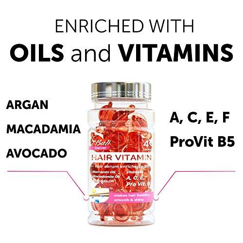 Hair Treatment Serum with Argan Oil, Macadamia and Avocado oils, vit. A, E,