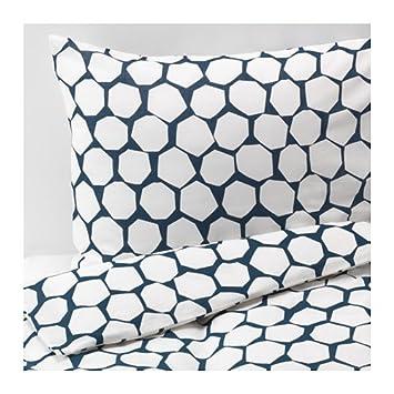 Ikea Flong Queen Housse De Couette Et Taie D Oreiller Bleu