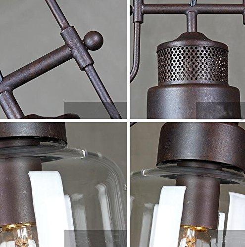 "SUSUO Lighting 6"" Wide Vintage Industrial Glass Pendant"