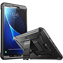 Galaxy Tab A 10.1 Case, SUPCASE [Heavy Duty] [Unicorn Beetle PRO Series] Full-body Rugged Protective Case with Built-in Screen Protector for Samsung Galaxy Tab A 10.1 inch (2016) (Black/Black)