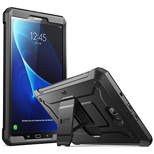 SupCase [Unicorn Beetle PRO Series Case Designed for Samsung Galaxy Tab A 10.1 inch, with Built-in Screen Protector for Samsung Galaxy Tab A 10.1 inch 2016 (SM-T580/T585) No Pen Version(BLK) (Case Samsung Glove Galaxy Body S2)