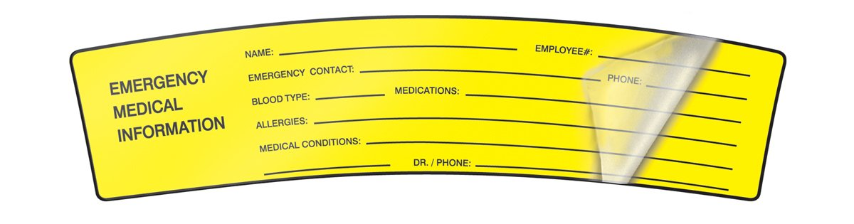 accuform signs lhtl250 self laminating adhesive vinyl hard hat label