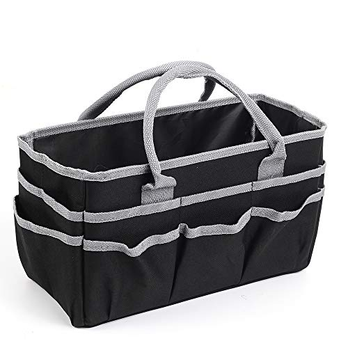 Jjring Fundamental Organizer 600D Nylon Artist Tote Bag, Silver Edge