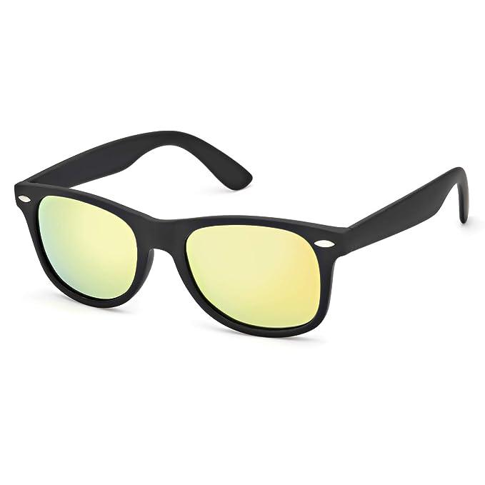 SIPHEW Gafas de Sol Hombre Polarizadas Lente Espejo, Protección 100% UVA/UVB,
