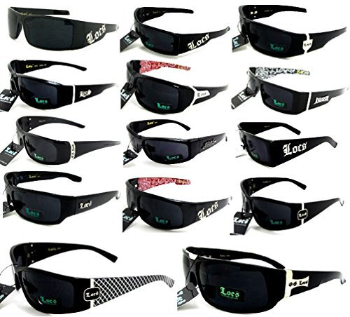 Locs Sunglasses Lot Of 6 ASSORTED Colors & Styles Below Wholesale Prices Pre Selected -