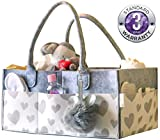 Baby Diaper Caddy and Toy Storage Basket | Portable Diaper Bag for Infants, Boys and Girls | Extra Sturdy & Large Nursery Organizer | Perfect Baby Shower Gift | Baby Registry Must Haves