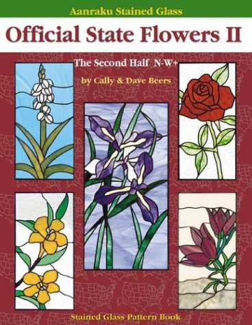 Read Online Aanraku Stained Glass Pattern Book Official State Flowers 2 pdf epub