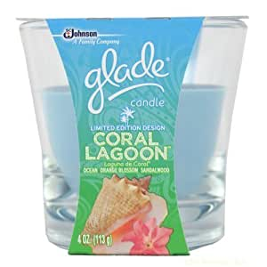 Glade Candle - Limited Edition Design - Coral Lagoon Scent - 4oz. by SC JOHNSON