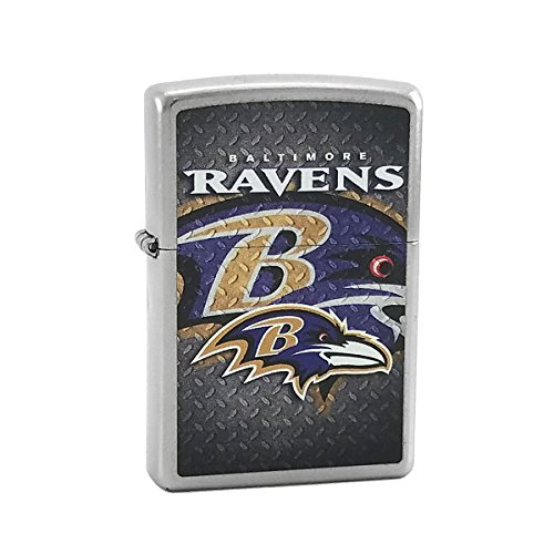 Custom Style Personalized Zippo Lighter NFL - Free Laser Engraving (Baltimore Ravens)