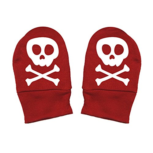 Mashed Clothing Unisex-Baby - Skull & Crossbones Cute Pirate - Thick Premium, Thick & Soft Baby Mittens