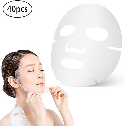 Beito 40pcs Mascarilla Facial desechable blanco algodón cosmético ...