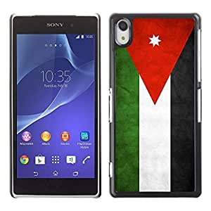 Shell-Star ( National Flag Series-Jordan ) Snap On Hard Protective Case For SONY Xperia Z2 / D6502 / L50W