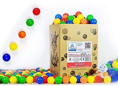 koenig-tom - Bolas de plástico para Piscina de Bolas de niños (200 Unidades, sin plastificantes peligrosos)