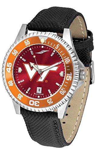 Virginia Tech Hokies Competitor AnoChrome Men's Watch - Color Bezel (Virginia Competitor Watch)