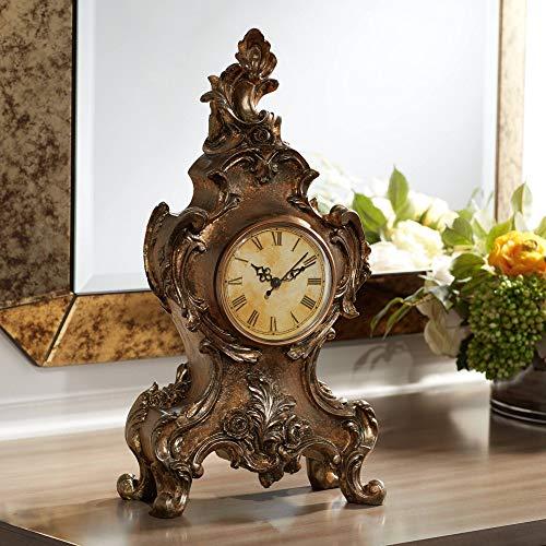 "Kensington Hill Taryn Vintage Style 16 1/4"" High Table Clock"
