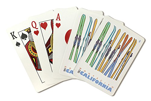 Montecito Poster (Skis in Snow - Montecito, California (Playing Card Deck - 52 Card Poker Size with Jokers))