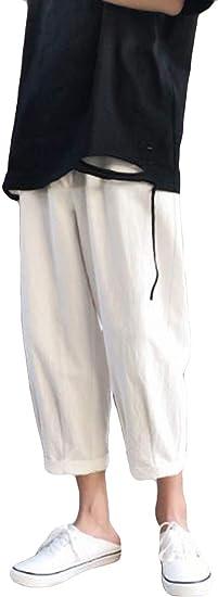 AOZUOメンズ デニムパンツ ジーンズ ダメージ加工 夏 クロップドパンツ ブルー かっこいいボトムス ズボン ストレート 原宿風パンツ デート お出掛け ロングパンツ カジュアル