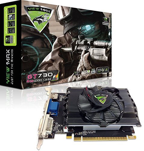 ViewMax NVIDIA GeForce GT 730 4GB GDDR3 128 Bit PCI Express (PCIe) DVI Video Card HDMI & HDCP Support - Product code name : * AMERICAN WARRIOR EDITION *
