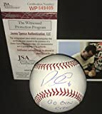 Domingo Santana Milwaukee Brewers Autographed Signed Official Major League Baseball GO BREW CREW JSA WITNESS COA