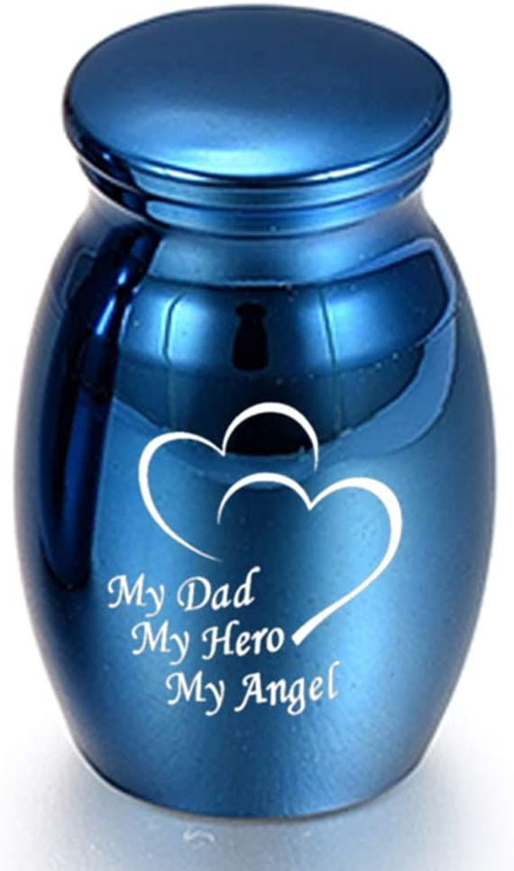 Blue Type 1 ukoudadao9haowanh 25 16mm Blue Keepsake Urns for Human Ashes Mini Cremation Urns for Ashes Memorial Ashes Holder