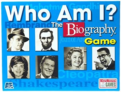 The Biography Game endless games SG/_B00004T3DE/_US Who Am I?