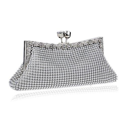 YAN Damen Abend Clutches Hand Clutch Damen Geldbörse und lange Clutch Bag Handtasche Kartenhalter (Color : Black) Gold
