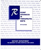 Recent Advances in Therapeutic Diets, University of Iowa Clinical Staff and Carlson, Susan, 0813810744