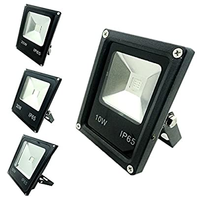 RGB, 50W EU plug : GLW Led Flood Light RGB Garden Landscaping Projecteur Led Exterieur Outdoor Lighting IP65 50W 30W 20W 10W Led Floodlight