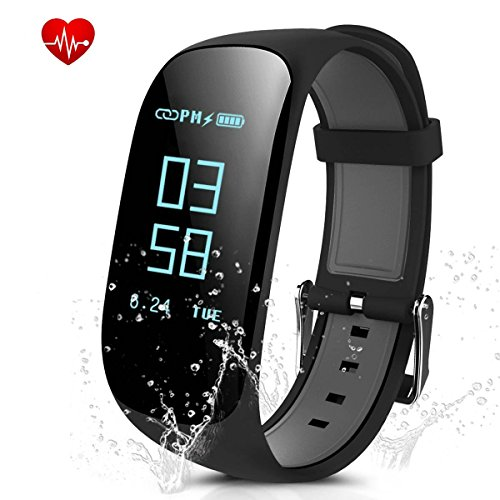 Easy-smart Fitness Tracker Smart Wristband Bracelet Z17 Activity Sport Tracker Watch with Heart Rate Monitor Sleep Monitor Pedometer GPS Trail Bluetooth Waterproof Fitness Watch for IOS Android