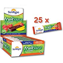 SunRype Apple Mango Strawberry Carrot Fruitsource 100% Natural Fruit Bar (Case of 25 Bars)