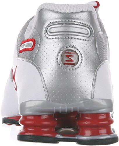 Nike Herren Shox NZ EU Laufschuhe Weiß / Sport Rot / Cool Grey / Metallic Silber