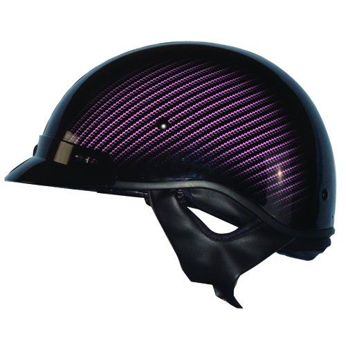 ZOAN ROUTE 66 HALF HELMET - CARBON, BLK/PINK - XL (Xl Helmet Blk)