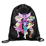 My Little Pony Equestria Girls Nylon Drawstring Bag Home Travel Sport Storage