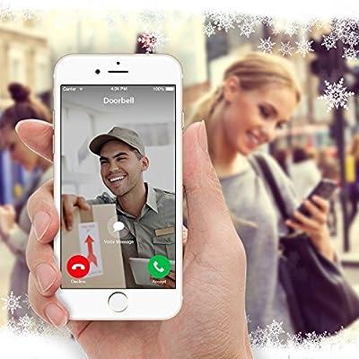 DING WiFi Enabled Video Doorbell Package with Smart Home Hub and WiFi Extender, 2 Pack Door/Window Sensors