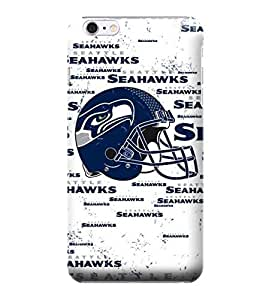 iPhone 6 Plus Case, NFL - Seattle Seahawks - Blast White - iPhone 6 Plus Case - High Quality PC Case