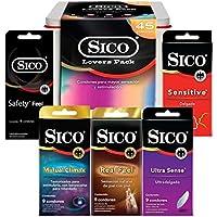 Sico Lovers Pack Lata con 45 Piezas de Condones