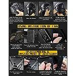 QZY Casque De Protection Modulaire pour Moto pour Entraînement Militaire Airsoft-Silver 8