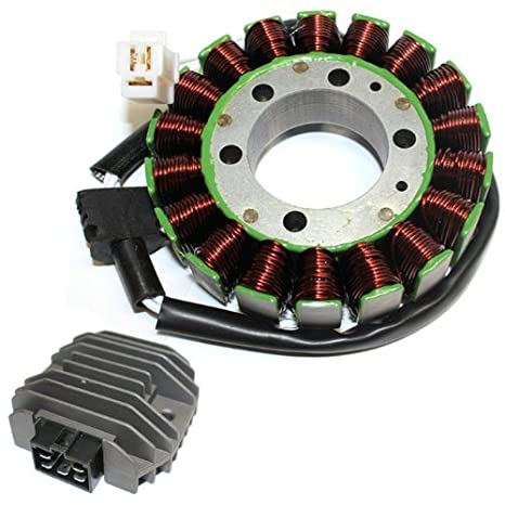 amazon com zoom zoom parts stator & regulator rectifier for yamaha 2009 yzf-r1 wiring zoom zoom parts stator & regulator rectifier for yamaha r6 yzfr6 yzf r6 yzfr600 1999