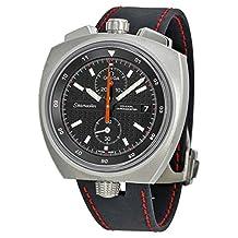 Omega Seamaster Bullhead Chronograph Automatic Black Dial Black Leather Mens Watch 22512435001001