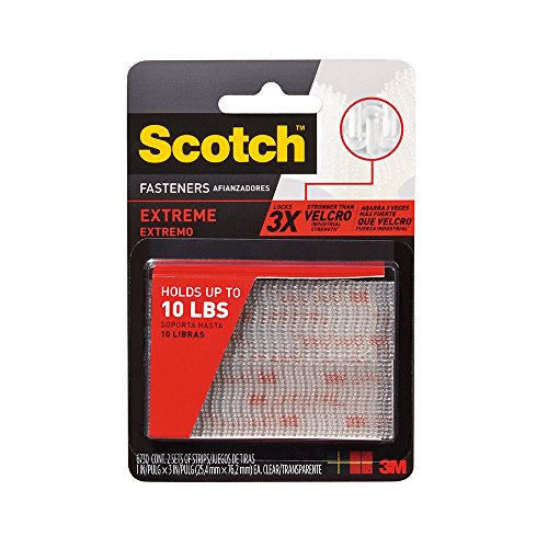 051131642843 - 3M Scotch Reclosable Fasteners, 1-Inch by 3-Inch, 2-Fastener, 6-Pack carousel main 0