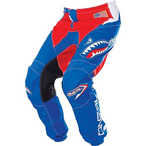 O'Neal Element Mens Afterburner Pant (Blue/Red, 34)
