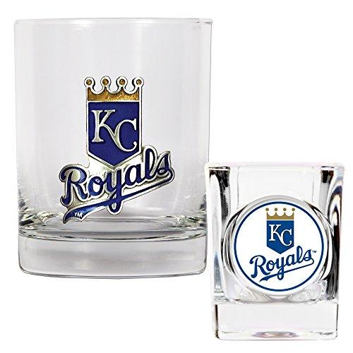Baseball Square Shot Glass (MLB Kansas City Royals Rocks Glass & Square Shot Glass Set - Primary)