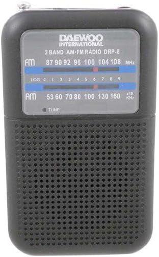 Daewoo DRP-8 Personal Analógica Negro - Radio (Personal, Analógica, Am,FM, Analógica, Negro, Giratorio)