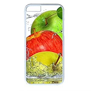 Hard Back Cover Case for iphone 6,Cool Fashion White PC Shell Skin for iphone 6 with Apples Splashing Water