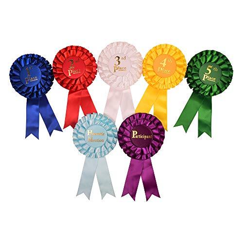 (Award Ribbon Rosettes Office Premium School Supplies The Complete Set 7pcs)
